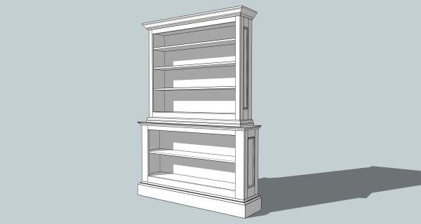 My second commission: a seven foot tall bookcase.