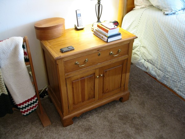 The bedside table in real life.