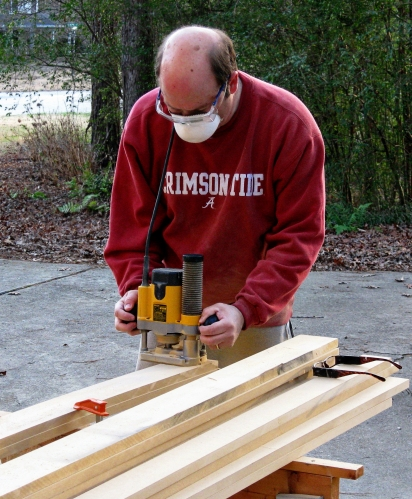 I then began the long and dusty process of forming the various layers of molding.