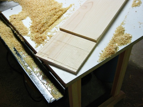 Forming a lap joint.