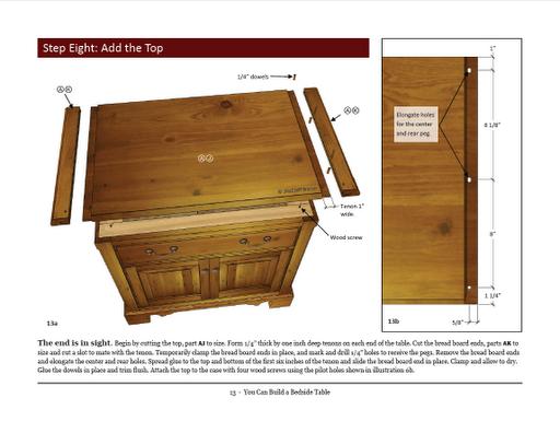 Bedside Table Plans