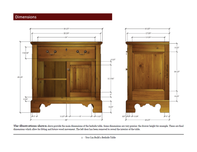 Free Woodworking Plan: You Can Build a Bedside Table