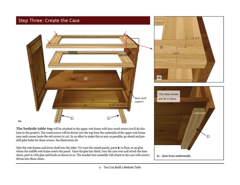 bedside table plans download