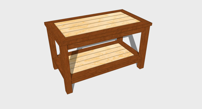 The subject of my new woodworking plan - a small coffee table.