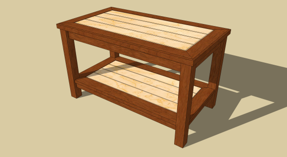 oak coffee table plans
