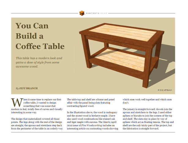 Wooden coffee table plans plans free download minor50uau for End table plans free