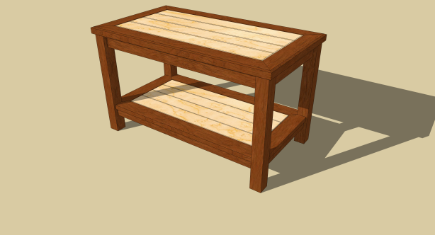free coffee table building plans