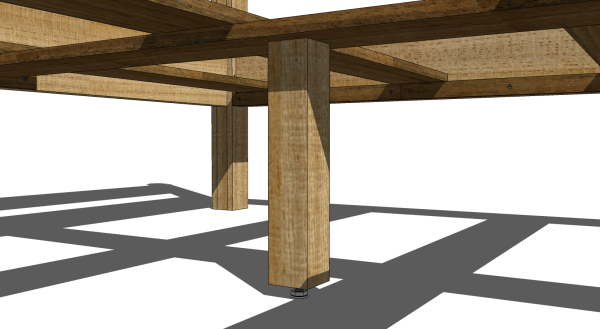 The center cross slat support complete with a leveler.