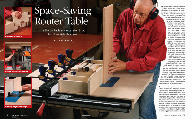 router table fence construction