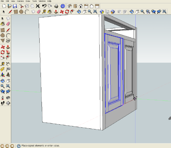 Some advanced modeling: creating a raised panel.