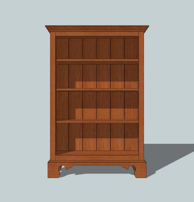 long bookcase plans