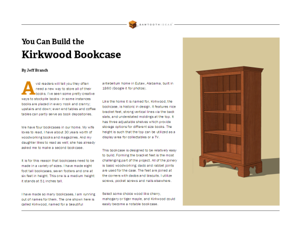 Kirkwood Bookcase Page 1