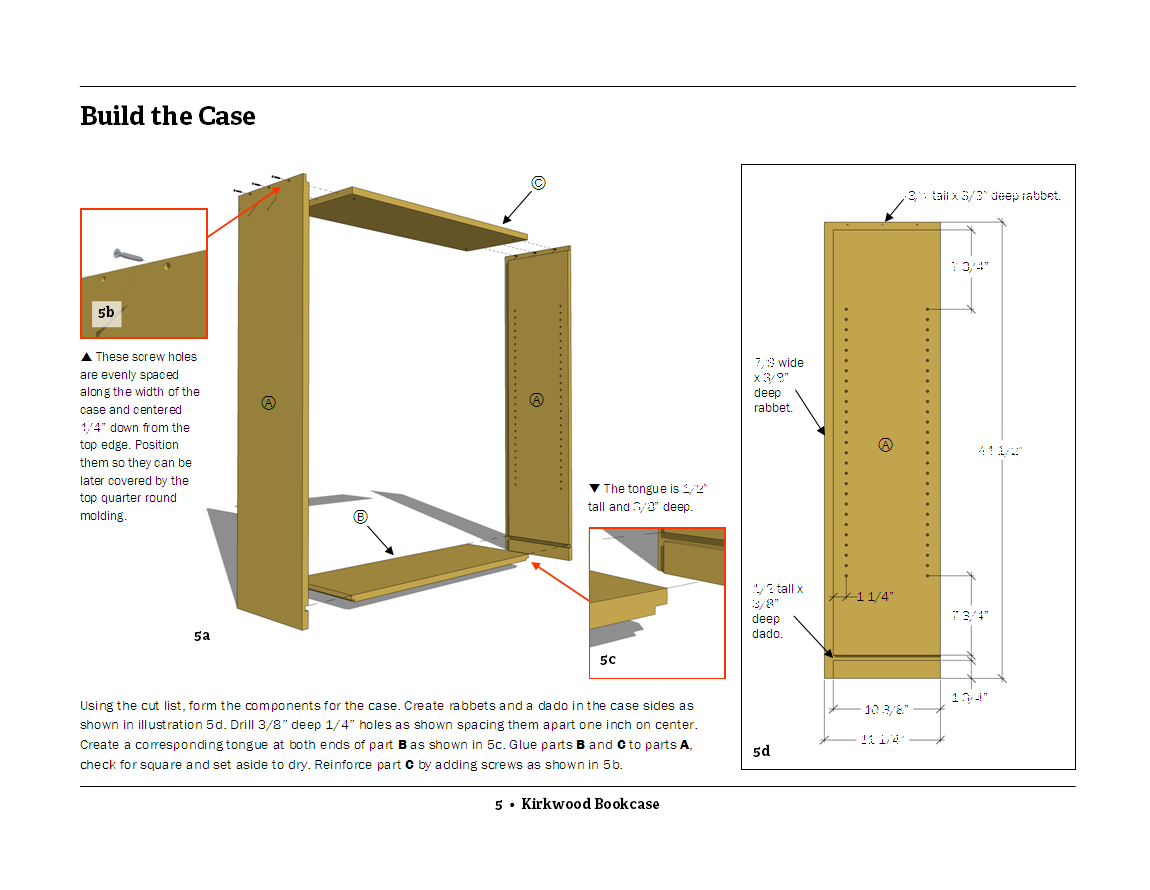 bookshelf construction tips