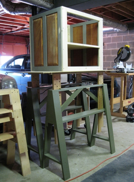 Tall is good. My Becksvoort tall sawhorses in use.