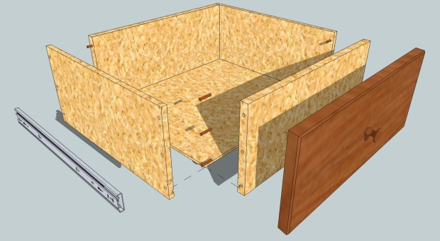 desk plans with drawers