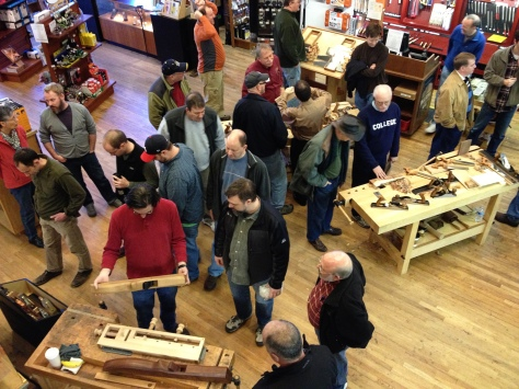 Inside Highland Woodworking: crowded.