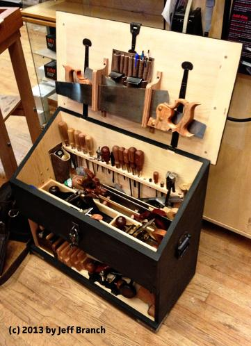 Chris showed off his Dutch Tool Chest which was loaded with tools.