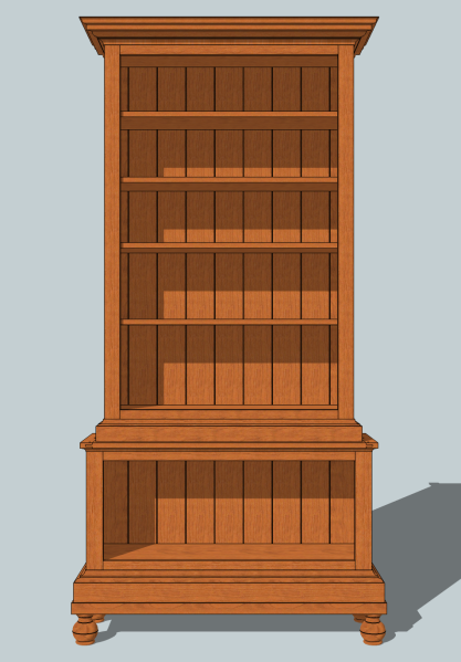 The winner - Sawtooth Ideas' bookcase design contest.