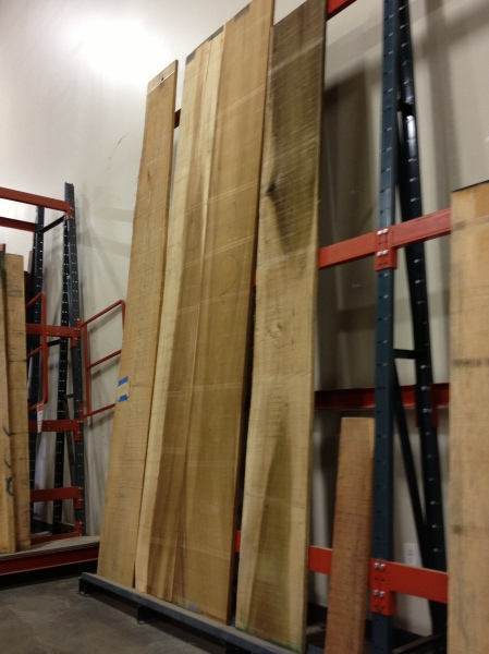 Some of the killer lumber at Hardwoods Inc.