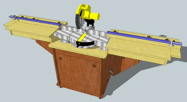 The John White designed miter saw stand from Fine Woodworking magazine.