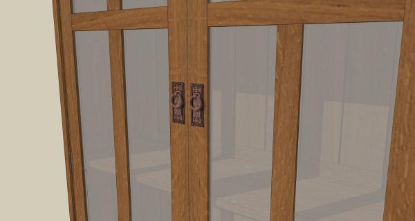 Detail of door pulls