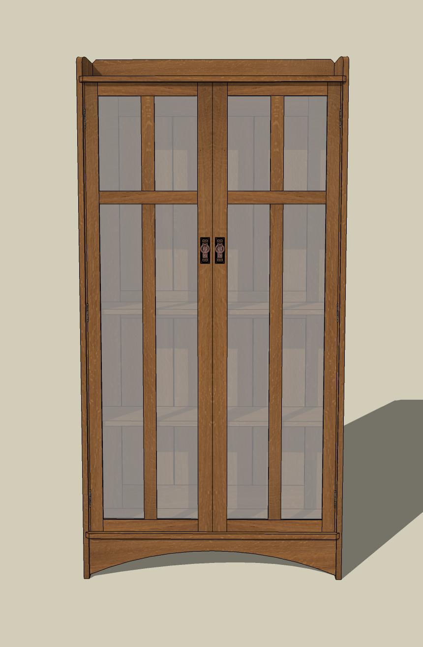 I re-worked the door design several times before settling on this one. & My Five Best SketchUp Models | Jeff Branch Woodworking