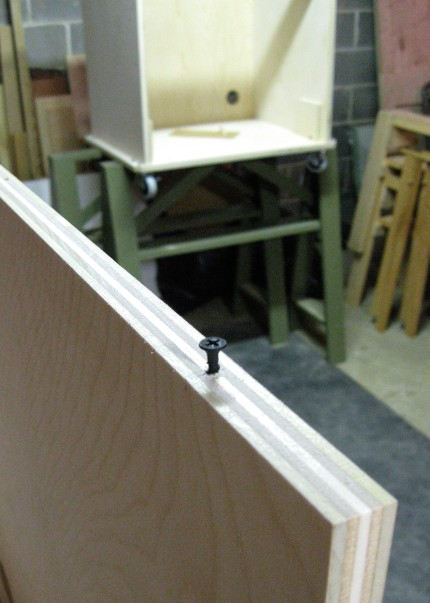 Miter Saw Base Front Panel Positioning Screws
