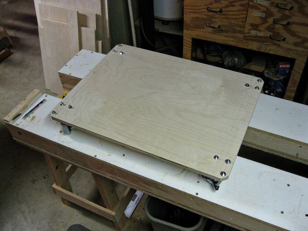 Miter Saw Stand Bottom With Casters