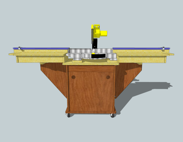 Miter Saw Stand Front View