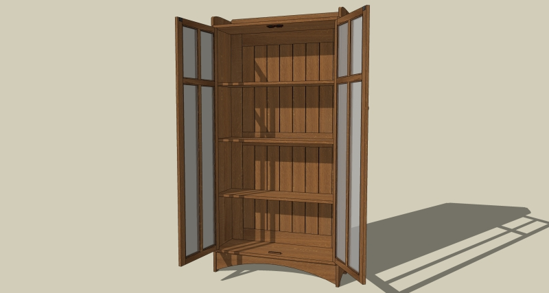Liberal arts and Crafts Bookcase Plan woodwork Plan humanities and ...