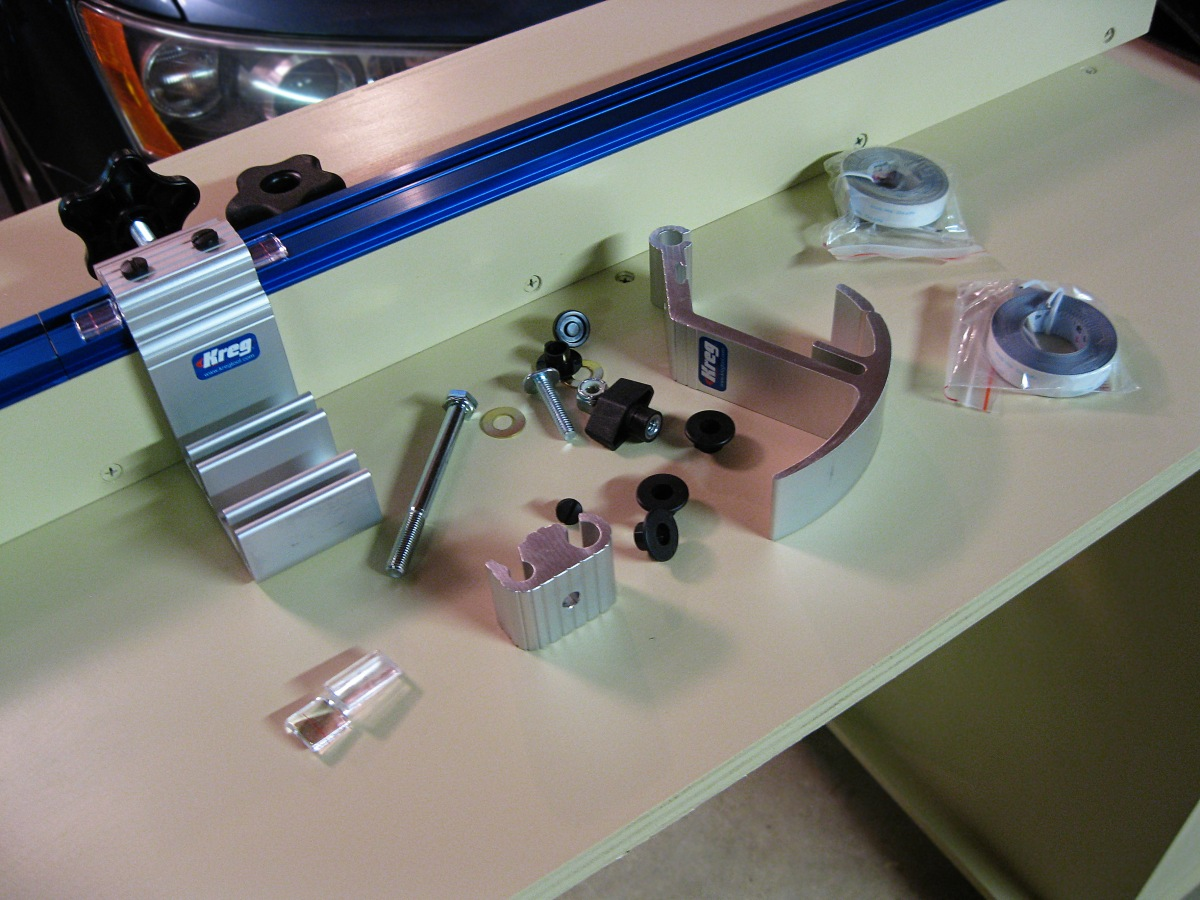 Miter Saw Stand Adding The Kreg Precision Trak And Stop