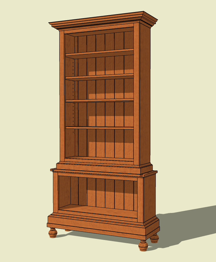 bookcase plans glass door