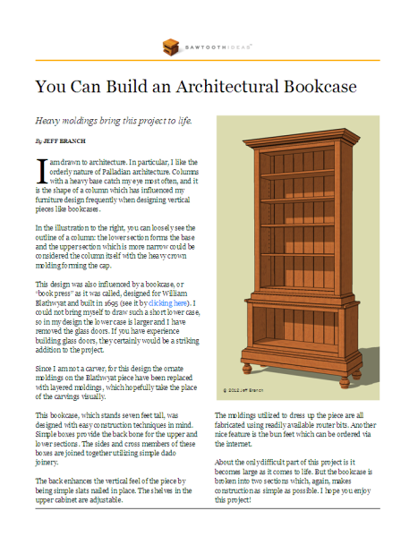 Architectural Bookcase 1