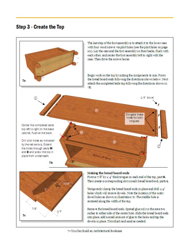 building bookcase plans