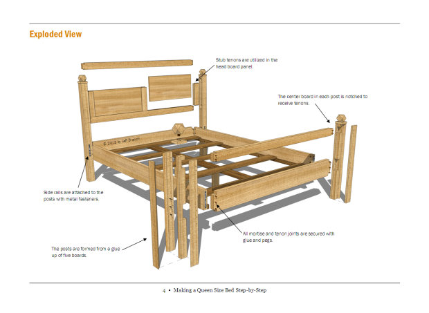 free woodworking plans for beds