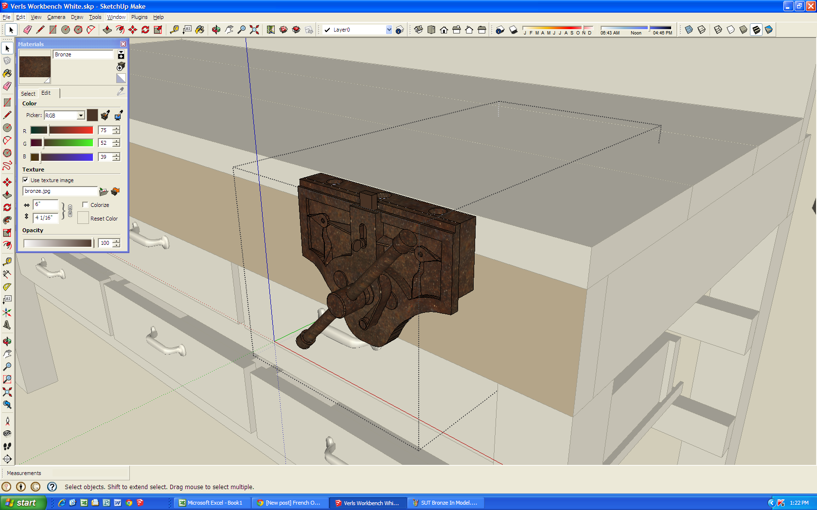 SketchUp The Easy Way to Add Wood Texture to Your Model Jeff