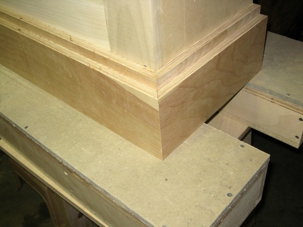 The two layers of plywood in place.