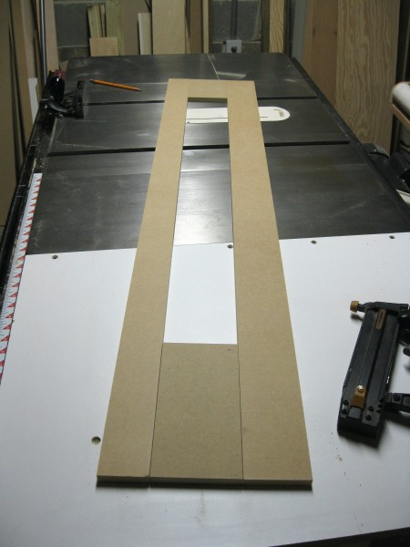 The simulated MDF panels.