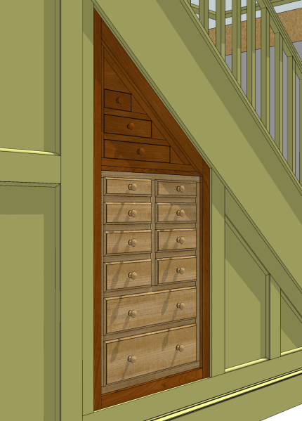 Curb appeal for my workshop - the proposed tool cabinet.