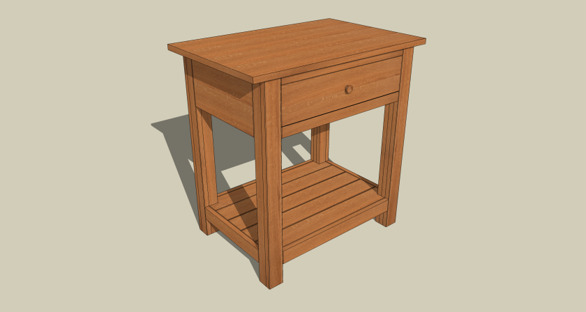A simple side table in quarter sawn red oak.