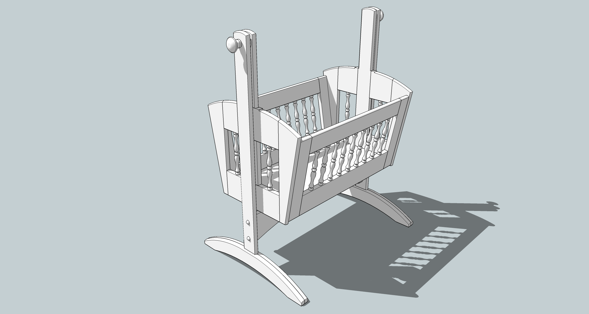 Minanda: Woodworking plans for a doll cradle