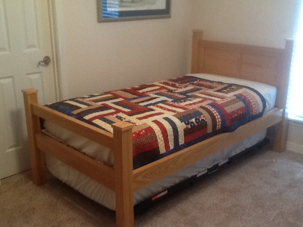 The Tornado Bed in trundle form