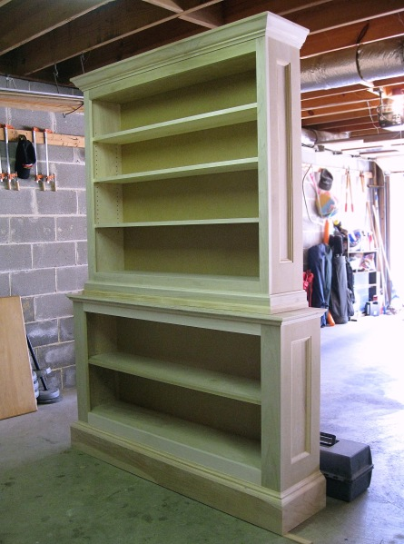 Mostly complete. I have just a few small items to complete and then the bookcase will be ready for primer and paint.