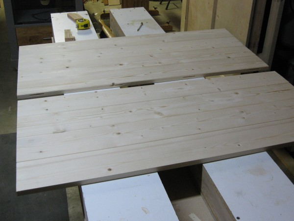 One table top in two sections.
