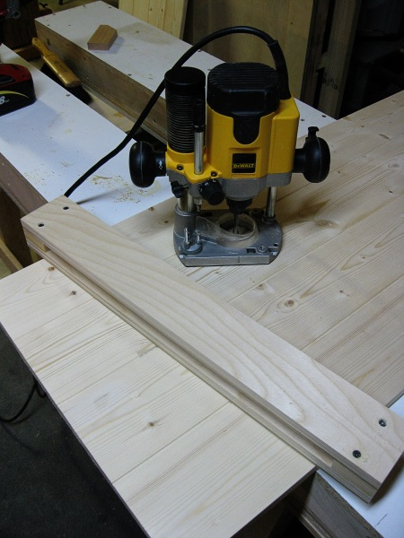 Making a jig for cutting a full length tenon.