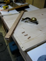 Fitting a breadboard end.
