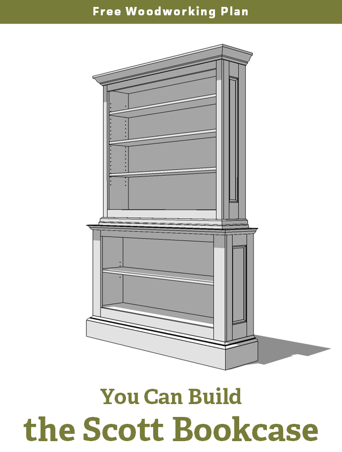 Free Woodworking Plan: A Large Painted Bookcase | Jeff ...