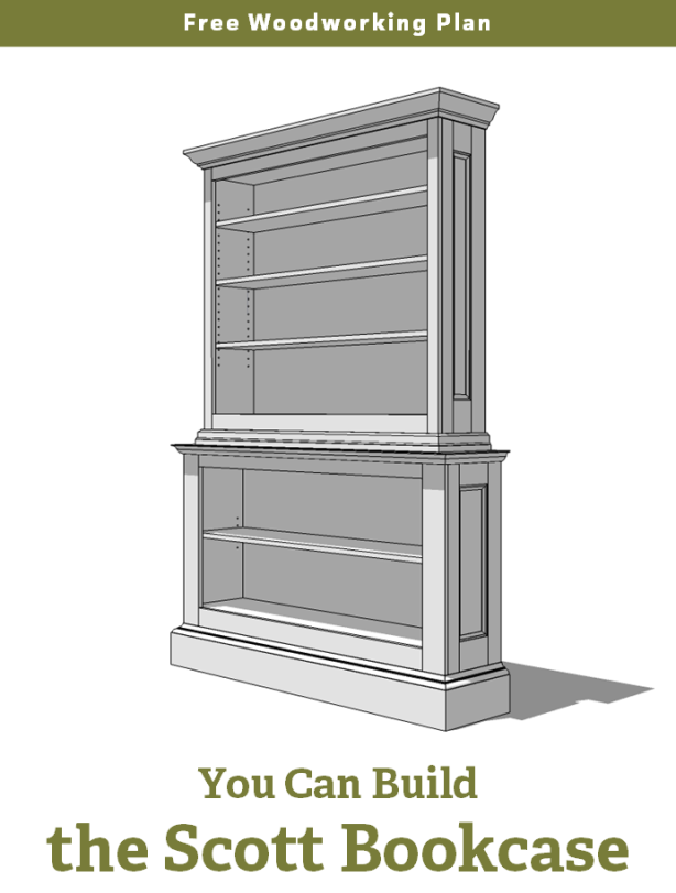 Free large bookcase plans plans diy how to make for Large bookcase plans