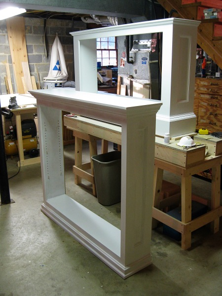 Adding the gloss white paint.