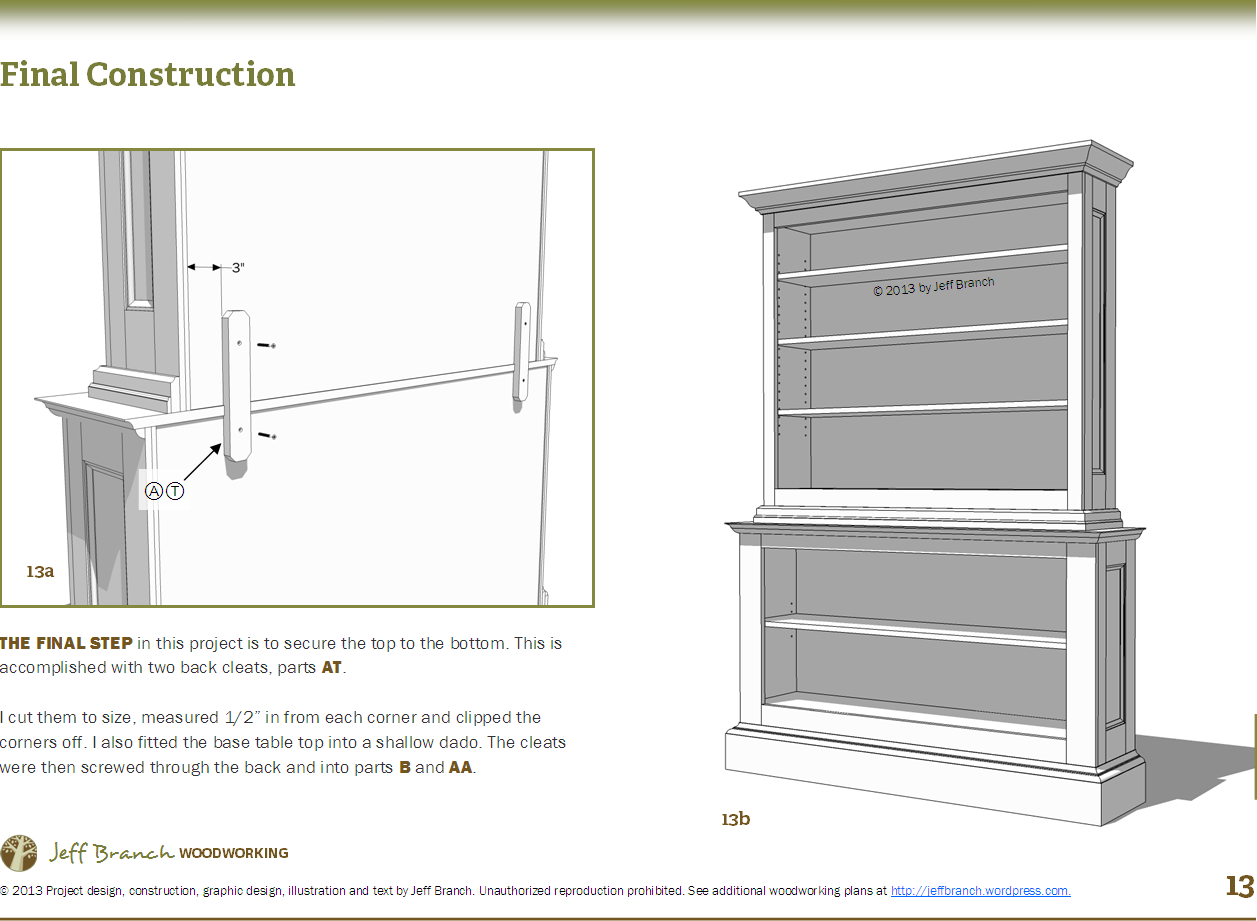 woodworking plans bookcase free